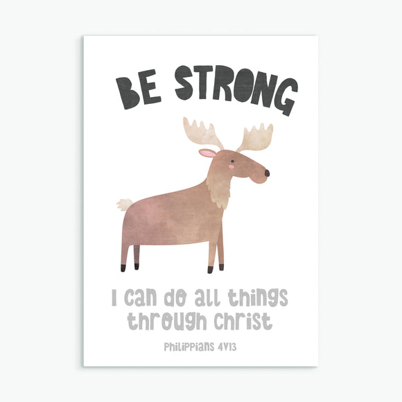 Be Strong - Greeting Card