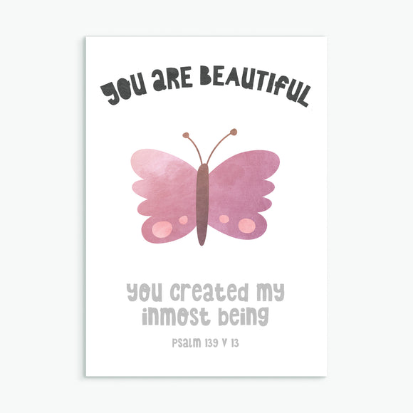 You Are Beautiful - Greeting Card