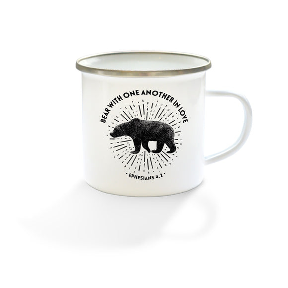 Bear with one another in love - Enamel Mug