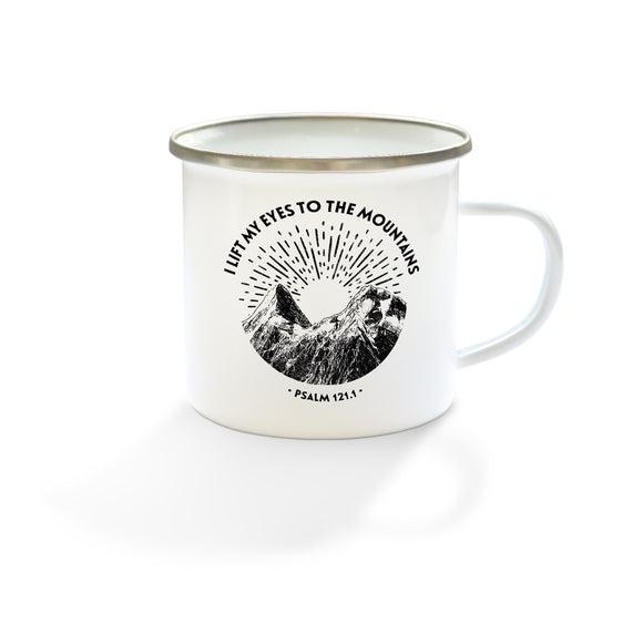 I lift my eyes to the mountains - Enamel Mug