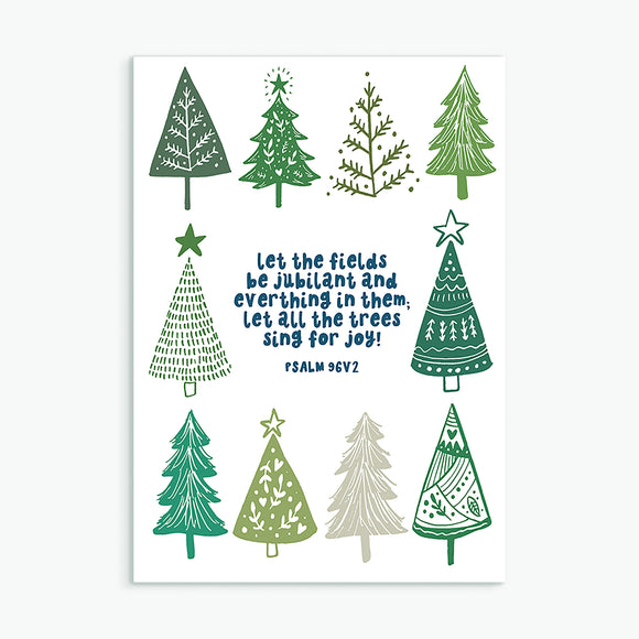 JOYFUL TREES Christmas Card