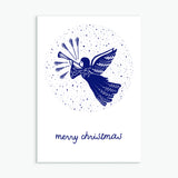 Pack of 10 Christmas Cards - Folksy Blues
