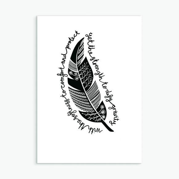 The Feather Greetings Card