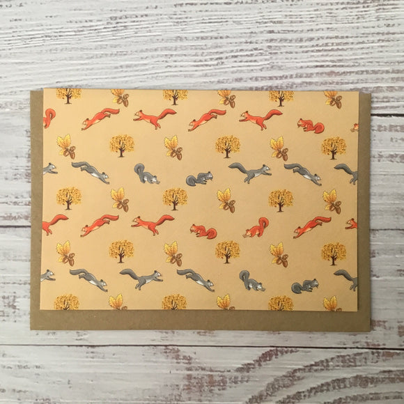 Greetings card - 'Squirrels'