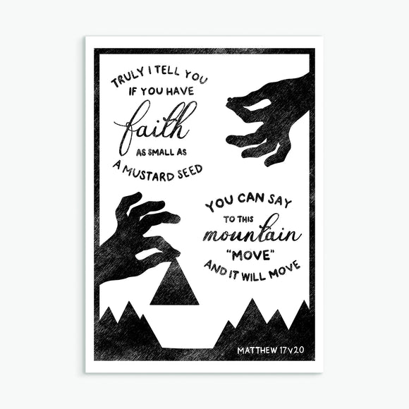 Faith As Small As A Mustard Seed A4 Print