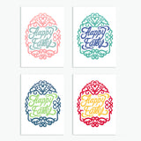 Happy Easter Calligraphic Easter Card