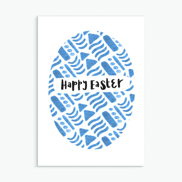 Happy Easter Patterned Card