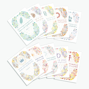 Folksy Easter Cards - 10 pack