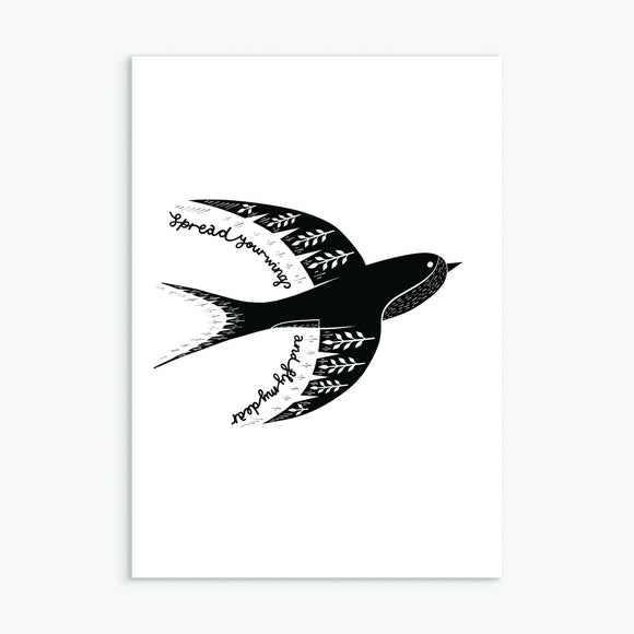The Swallow Greetings Card