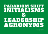Initialisms & Leadership Acronyms - Puzzles to Spark Conversation