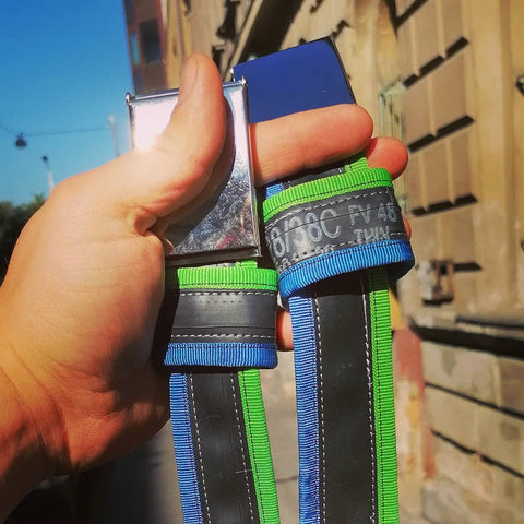 Biketube belts in individually picked colors