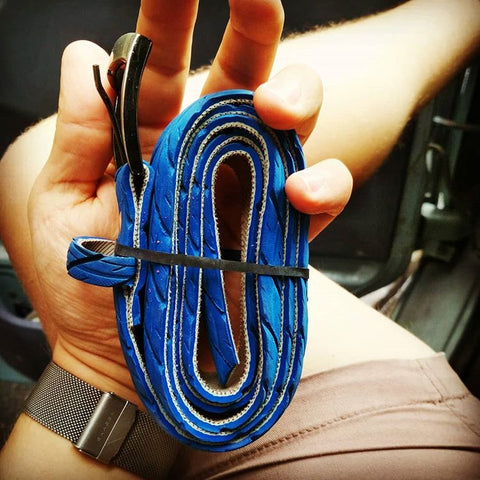 Blue bicycle tire belt  by Felvarrom