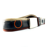 """Punctured"" inner tube belt, light brown – dark brown"
