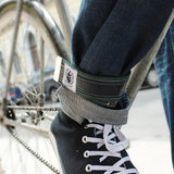 Vegan trousers strap – dark green by Felvarrom bicycle upcyclery - 1