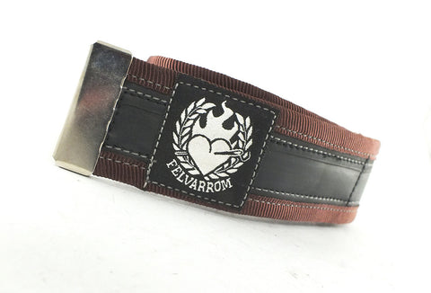Bike trousers strap – dark brown by Felvarrom bicycle upcyclery - 1