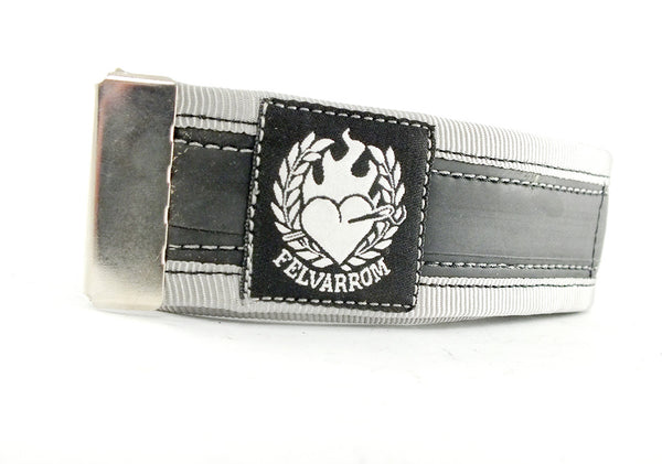 Grey trousers strap by Felvarrom bicycle upcyclery - 1