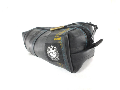 """InTuBag"" inner tube bag, medium, blue inside by Felvarrom Bicycle Upcyclery - 1"