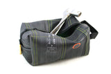 Black green toiletry bag from recycled biketube by Felvarrom