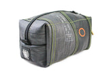 Bicycle inner Tube toiletry bag with puncture fix patch by Felvarrom