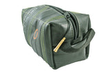 Toiletry bag tool bag for men black green inside by Felvarrom