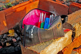 Pink bicycle tube tool bag by Felvarrom