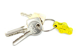 Yellow bike bicycle key chain