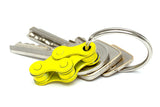 Yellow bicycle keychain by Felvarrom
