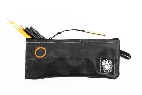 """PenTube"" Recycled Pencil Case, Black Zip"