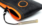Orange Biketube Pen holder Closeup - By Felvarrom
