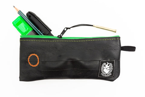 """PenTube"" Recycled Pencil Bag, Green Zip"