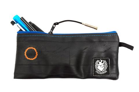 """PenTube"" Recycled Pencil Case, Blue Zip"