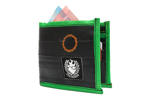 """WalletTube"" mens inner tube wallet green"