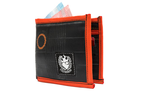"""WalleTube"" cyclist inner tube wallet orange"