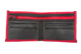 Slim Wallet made of Bicyle Inner Tube in Red