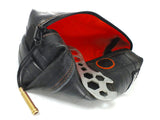 Toiletry bag red - made of bicycle inner tube
