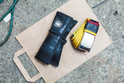 """Flatty"" inner tube belt, sun yellow – bourdon by Felvarrom bicycle upcyclery - 1"