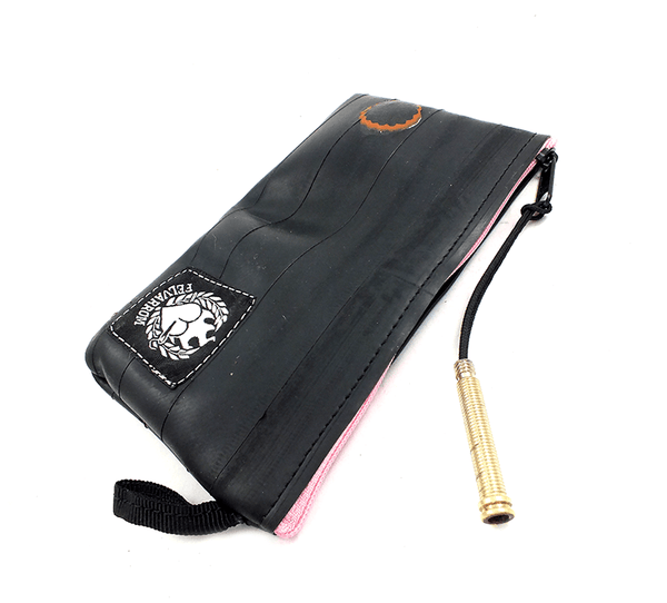 """CoInTube"" Recycled Purse, M, pink zipper by Felvarrom Bicycle Upcyclery - 1"