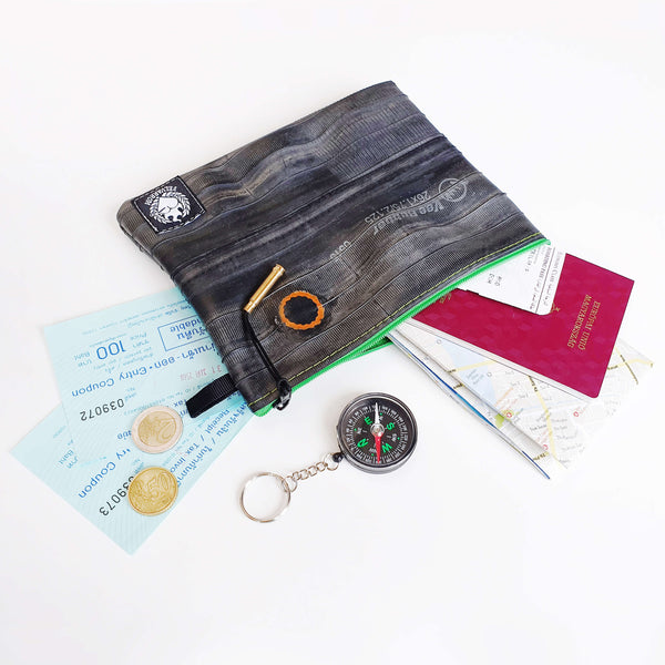 Passport Pouch from Upcycled Bicycle Tube by Felvarrom