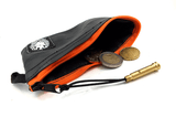 """CoInTube"" Recycled Purse, M, orange zipper by Felvarrom Bicycle Upcyclery - 3"