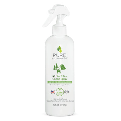 Pure and Natural Pet Flea and Tick Canine Spray