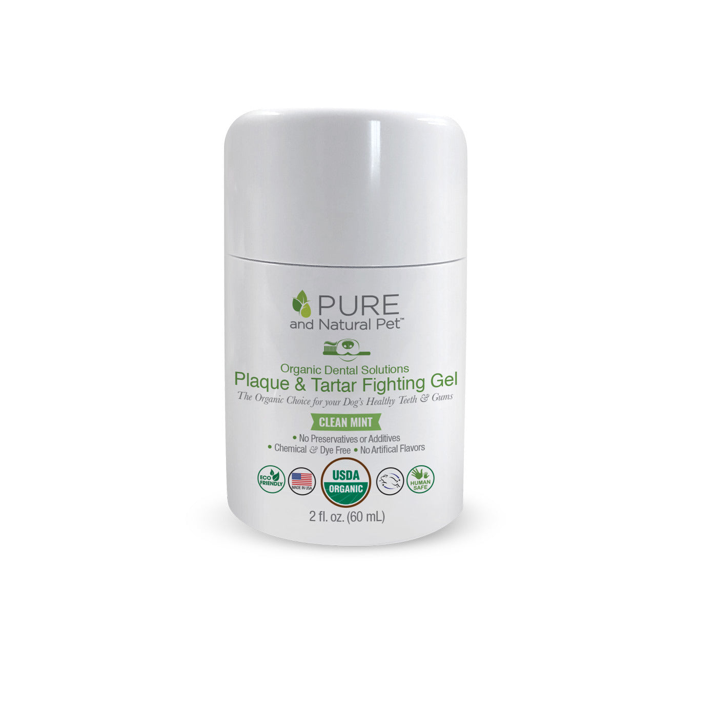 Pure and Natural Pet Organic Plaque and Tartar Fighting Gel