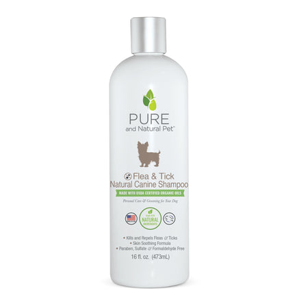 Pure and Natural Pet Flea and Tick Natural Canine Shampoo