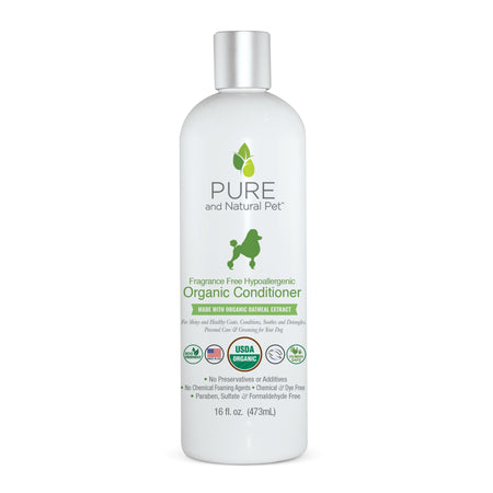 Pure and Natural Pet Fragrance Free Hypoallergenic Organic Conditioner