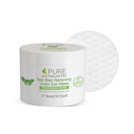 Pure and Natural Pet Tear Stain Removing and Cleansing Wipes
