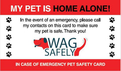 Pet Home Alone Emergency Wallet Cards