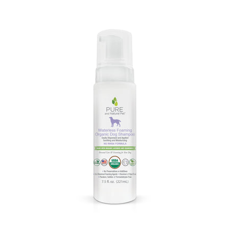 Pure and Natural Pet Waterless Foaming Organic Dog Shampoo