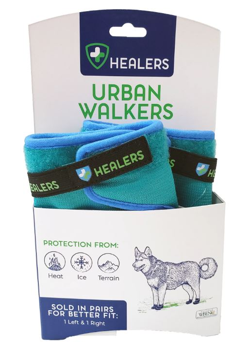 Reflective Pet Booties 1-Pair Healers Dog Boots for Paw Protection with Non Slip Sole