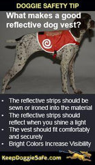 Reflective Dog Hi-Viz Orange Dog Vest - Keep Doggie Safe