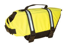 Bright Yellow Life Jacket - Keep Doggie Safe
