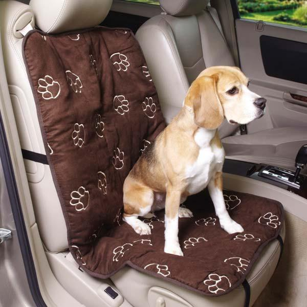 Pawprint Single-Seat Car Seat Cover - Keep Doggie Safe